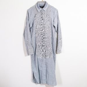 RAG & BONE striped button down shirt dress modern